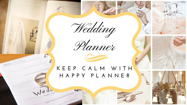 Wedding Planner – Keep Calm with Happy Planner