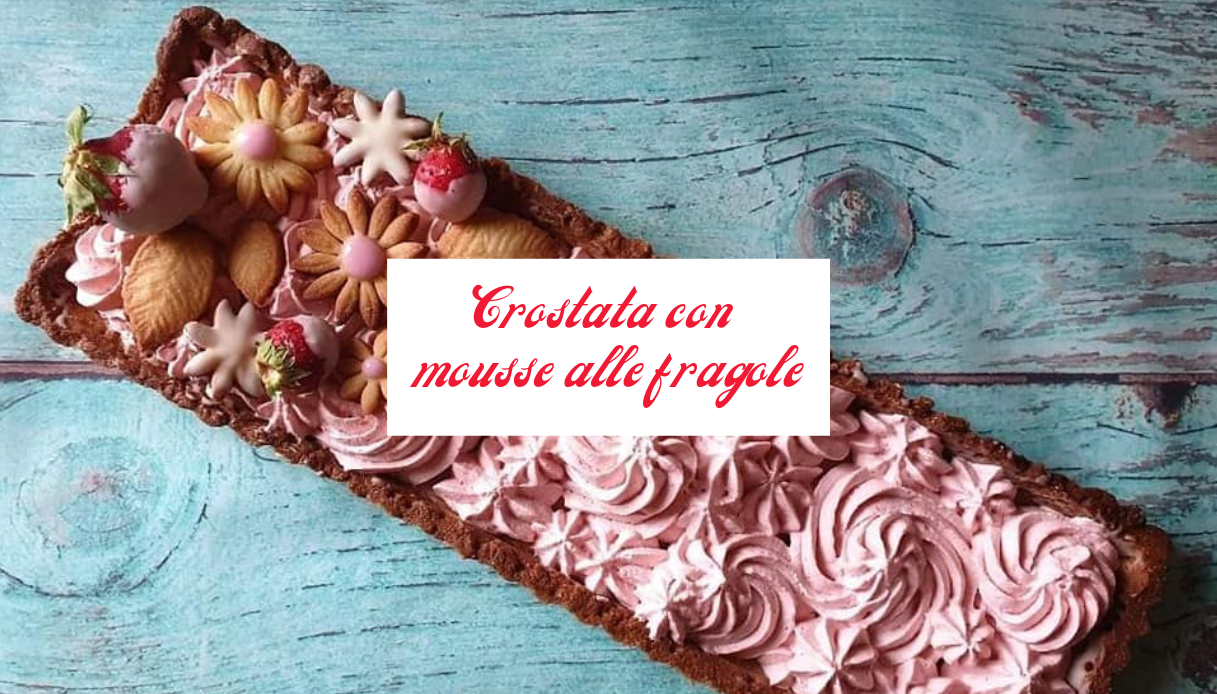 Crostata mousse fragole