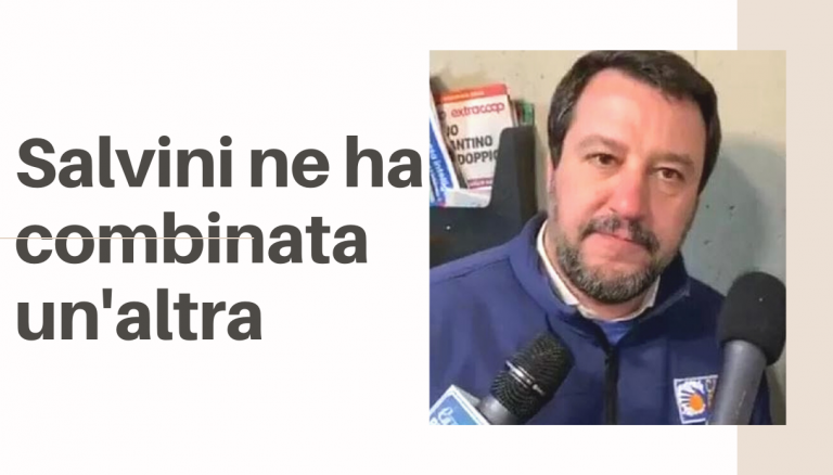 Salvini, l'ex ministro, food blogger, dj e influencer, ne ha combinata un'altra