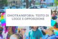Omotransfobia: testo di legge e opposizione