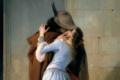 """Il pittore Francesco Hayez e il suo """"bacio"""", un'icona del Risorgimento"""